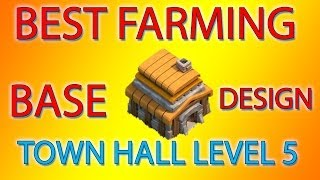Clash Of Clans Best Farming Base Town Hall 5