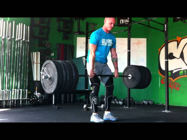 3 position Clean Deadlift @325lbs