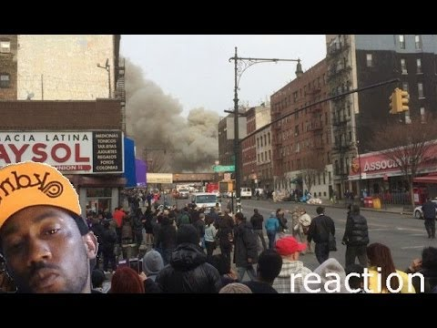 Harlem Building Explosion and Collapse - HARLEM Explosion Rocks New York City reaction