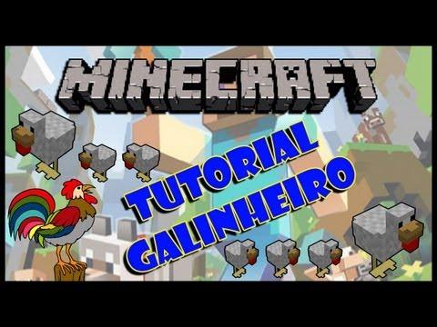 MINECRAFT 1.4.6 - Tutorial, fazendo um galinheiro (coleta automática de ovos)