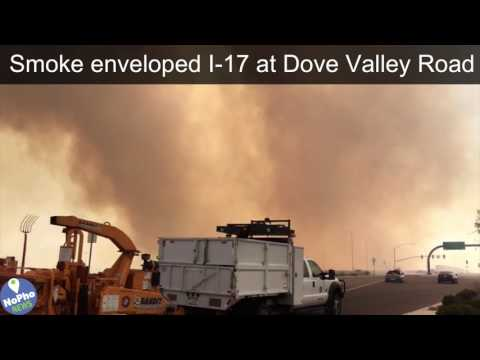 Fast-Moving North Phoenix Fire of June 22, 2017