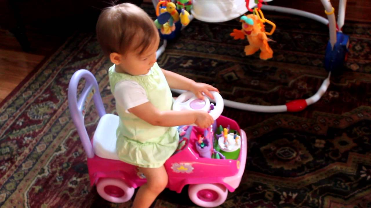 disney princess activity ride on toy demo by toddler girl youtube. Black Bedroom Furniture Sets. Home Design Ideas