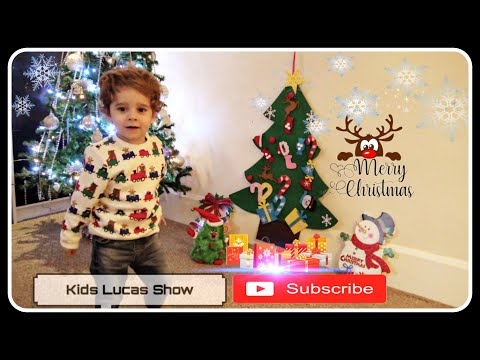 How to decorate the Christmas tree with Lucas | Christmas Songs|Funny videos