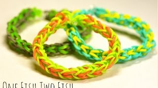 How To Make The Rainbow Loom One Fish Two Fish Bracelet
