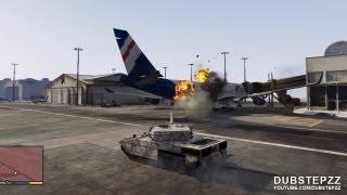 GTA V (5) Airport Mayhem With The TANK