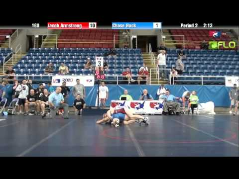 Junior 160 - Jacob Armstrong (Utah) vs. Chase Hack (Indiana)