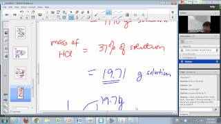 General Chemistry Lecture: Aqueous Solutions and Molarity