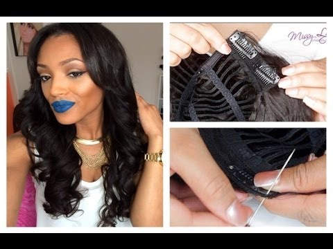 Sewing Wig Clip To Hair 101