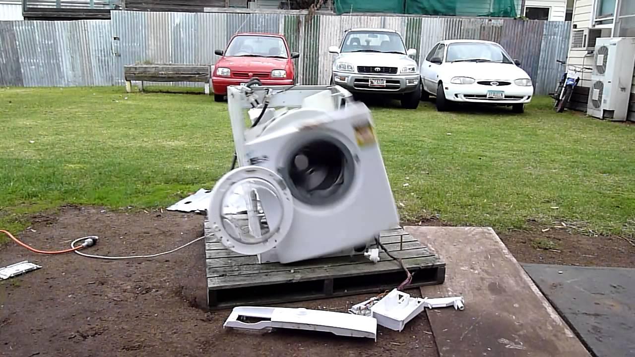 Desintégration de machine à laver