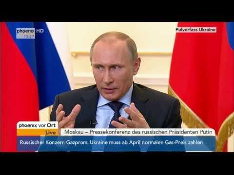 Pulverfass Ukraine - PK von Wladimir Putin am 04.03.2014