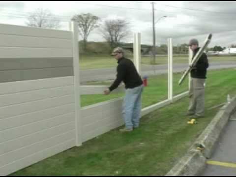 Tuf Barrier Noise Barrier Wall Install Residential Youtube