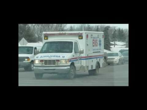 Ambulance Blasting Through Traffic On Wayne Gretzky Drive In Edmonton Mar '11 By David Cure-Hryciuk