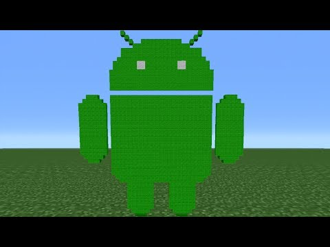 Minecraft Tutorial: How To Make The Android Logo