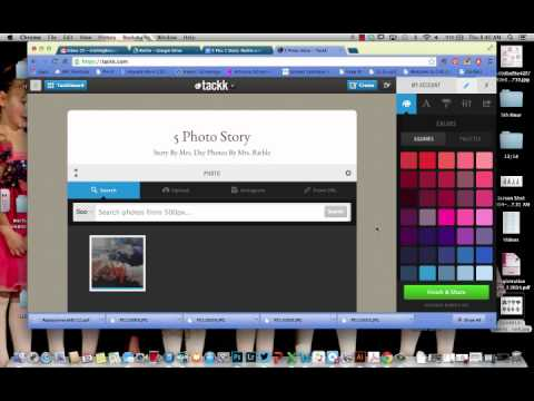 Creating a Tackk for 5 Photo Stories