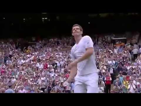 Andy Murray's match point v Goffin - Wimbledon 2014