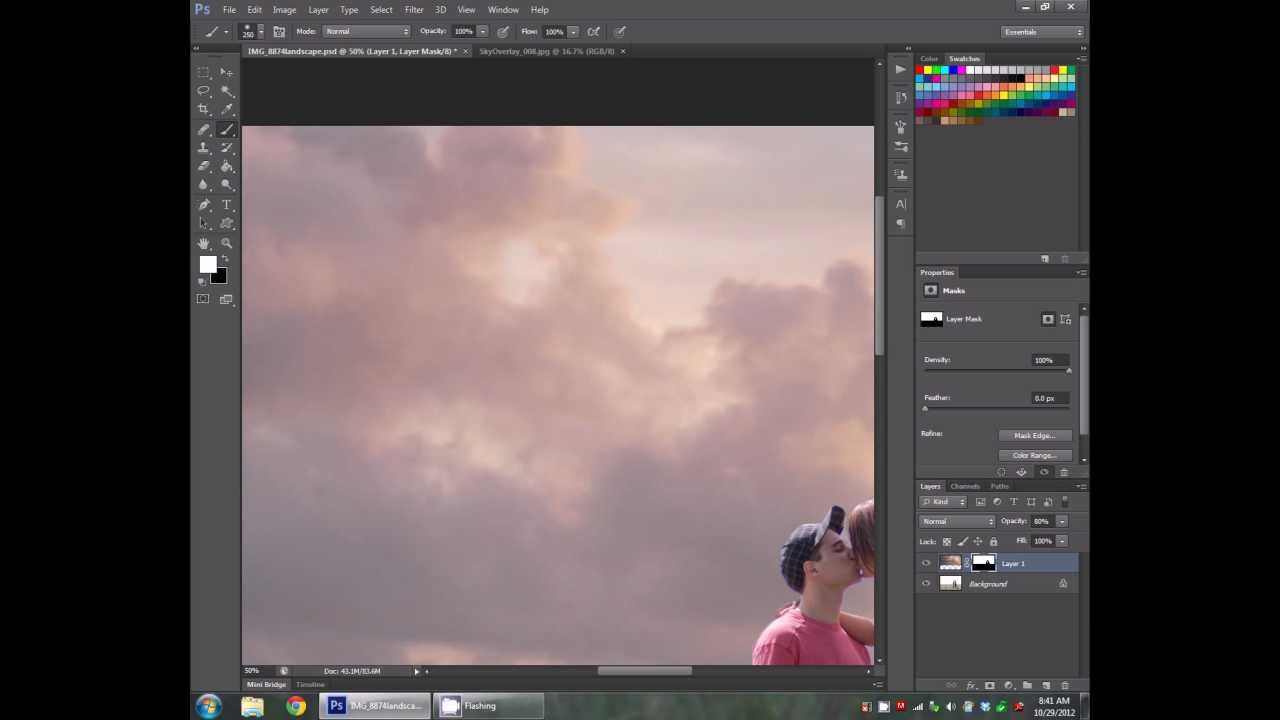 how to fix blown out sky in photoshop