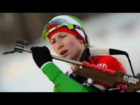 Darya Domracheva Gold Medal Victory Sochi Olympics 2014