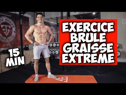 Exercice brule gras extrême en 15min ! (Hiit maison)