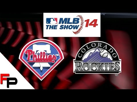 MLB 14 The Show - PS3 Gameplay - Philadelphia Phillies vs. Colorado Rockies