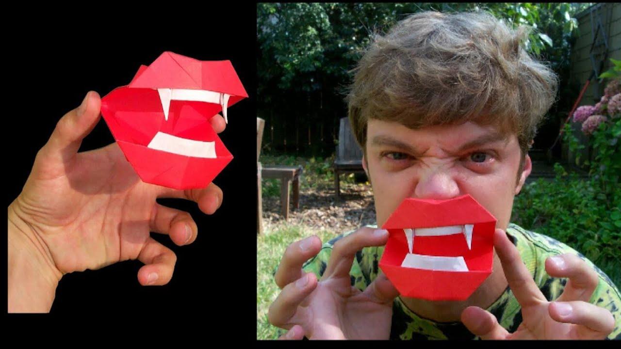 Клыки вампира оригами видео