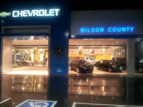 Happy Holidays from Wilson County Chevrolet Buick GMC our dealership decorated for the season