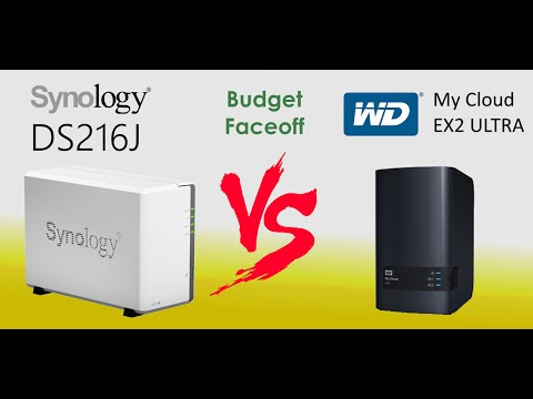 The Synology DS216J verus the WD My Cloud EX2 Ultra NAS - Brand vs Brand NAS Comparison