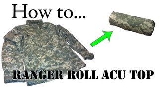Army Packing Hack: How To Ranger Roll Your ACU Jacket
