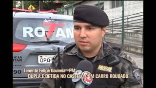 Dupla � detida com carro roubado e r�plica de rev�lver no Bairro Castelo