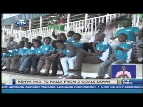 Kenya under 20 national soccer team plays against Italy
