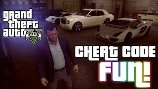 GTA V: Cheat Code Fun! (Drunk Mode And 5 Star Failure