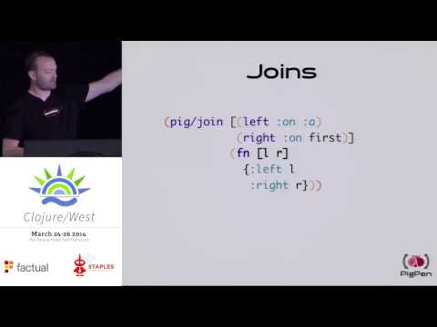 Matt Bossenbroek -  PigPen: Map-Reduce for Clojure