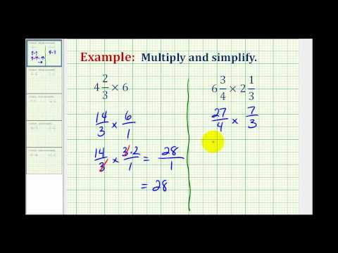 Example 1: Multiplication Involving Mixed Numbers
