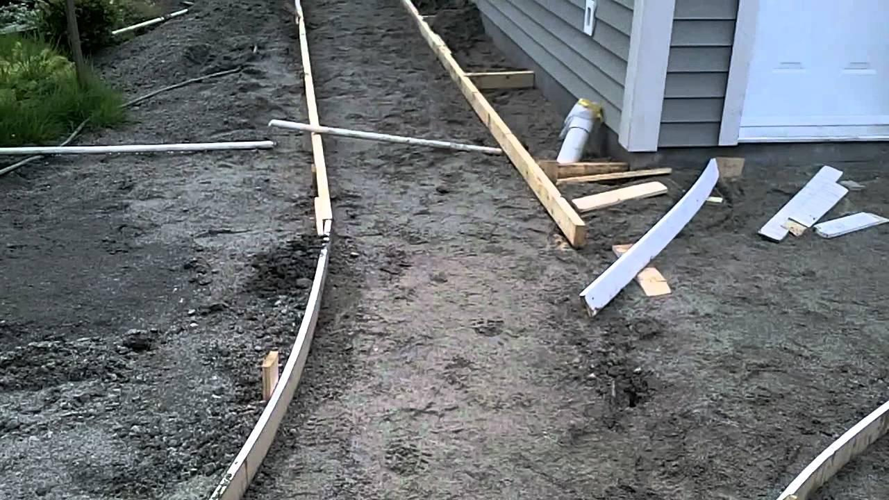 Garage Build Part 14 Building Curved Concrete Sidewalk