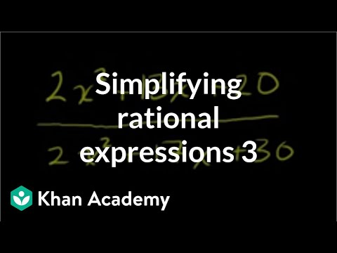 Simplifying Rational Expressions 2