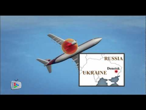 MH17: Animation of how plane went down