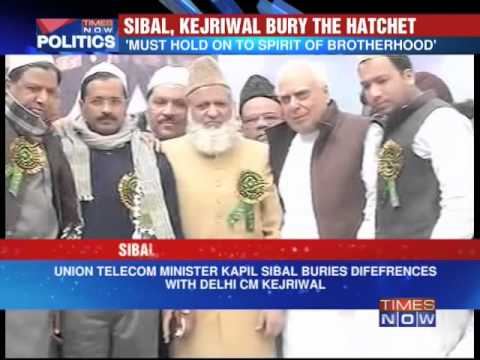 Kapil Sibal and Arvind Kejriwal bury the hatchet