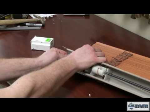 Motorized 2 Wood Blind Battery Operated Do It Yourself