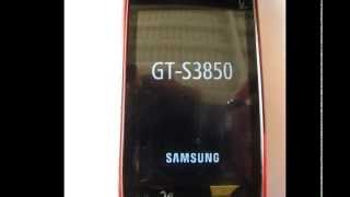 How To Reset A Samsung GT-S3850 (Corby 2)