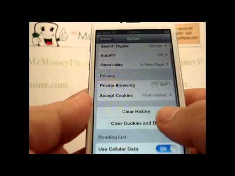how to delete search history on iphone 5