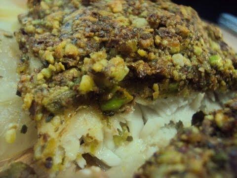 Ψάρι με κρούστα από Φιστίκια Αιγίνης