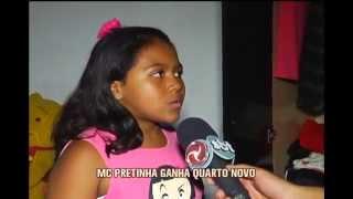 MC Pretinha ganha quarto novo ap�s inc�ndio