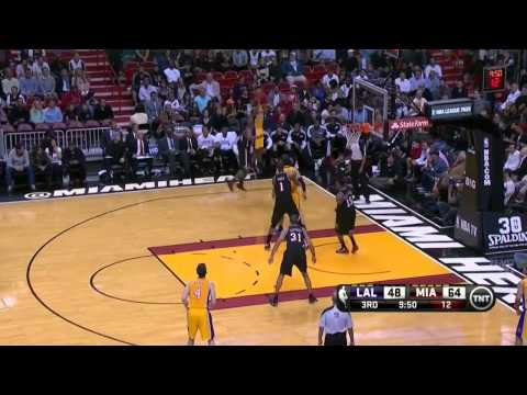 2014-01-23 Lakers vs Heat Full Highlights