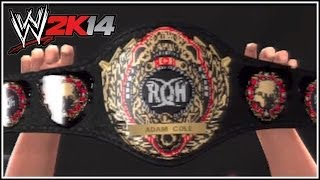 """WWE 2K14 How To Get The ROH Heavyweight Title On """"WWE"""