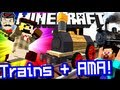 Minecraft AMAZING STEAM TRAINS! & Ask GameChap Anything!