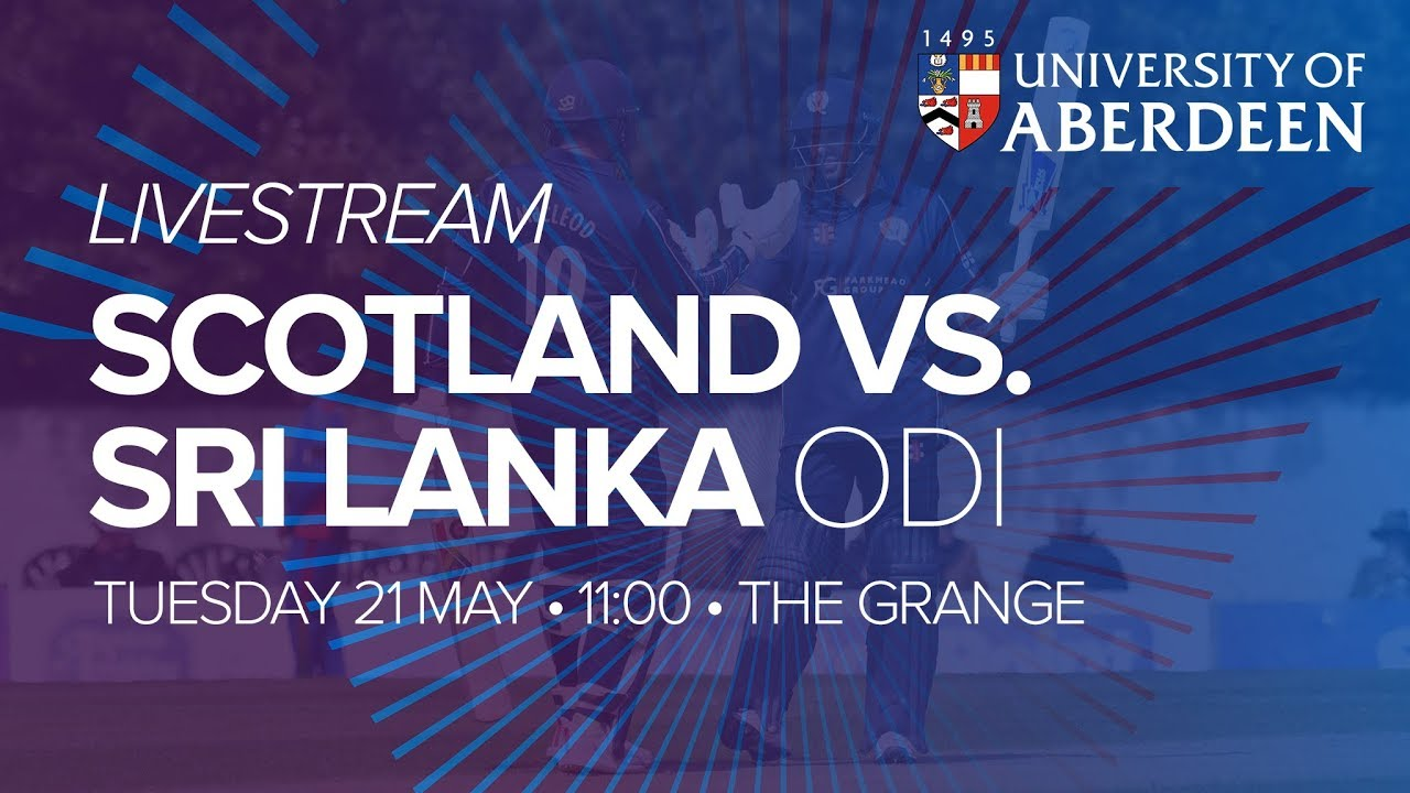 LIVE - Scotland v Sri Lanka 2nd ODI