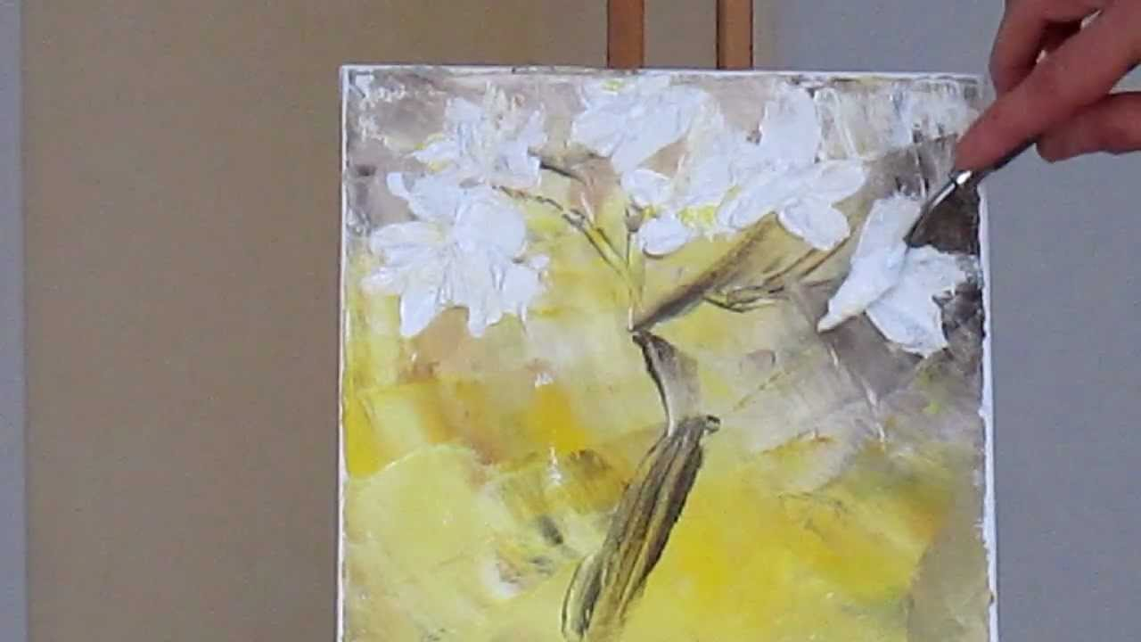 tanja bell how to paint white blossom tutorial palette