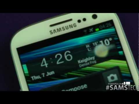 Samsung Galaxy S3  - Smart Stay Demo