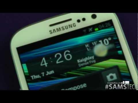Samsung Galaxy S3  - Smart Stay Demo