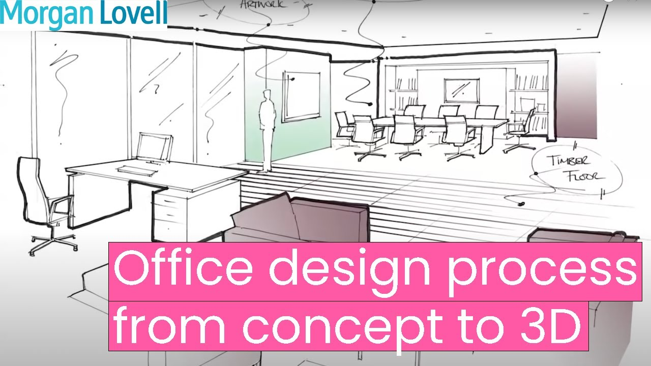 Office design process from concept to 3d youtube for Office table 3d design