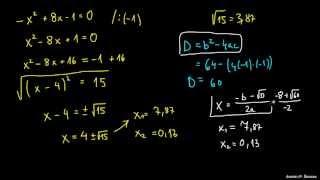 Izpeljava kvadratne enačbe – primer 2
